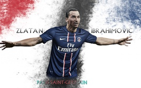 Картинка wallpaper, sport, football, player, Paris Saint-Germain, Zlatan Ibrahimovic