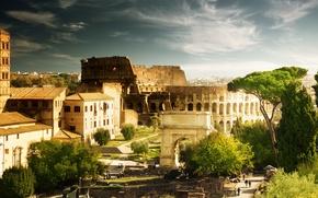 Картинка Colosseum, italy, rome, колизей, италия, рим, архитектура, дома