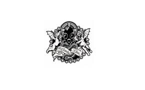Картинка Минимализм, Музыка, Логотип, Black, White, the Chemodan