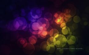Картинка круги, абстракция, краски, colors, circles, patterns, боке, bokeh, abstraction