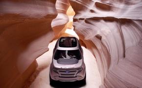 Обои explorer, горы, ford, сильно, пещера, дизайн