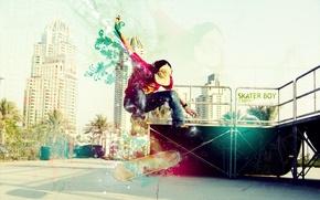 Картинка город, спорт, скейт