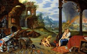 Обои Аллегория Войны, Ян Брейгель младший, картина