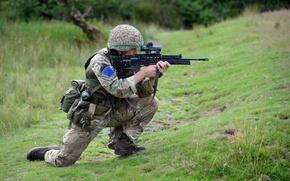 Картинка оружие, солдат, British Parachute Regiment
