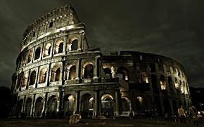 рим, италия, колизей, арена, сооружение обои
