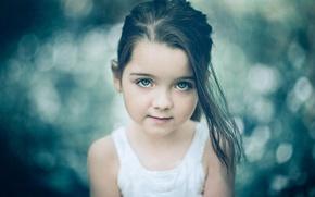 Картинка девочка, взгляд, боке, портрет