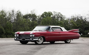 Обои Cadillac, кадиллак, Convertible, 1959, Sixty-Two