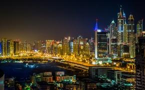Картинка ночь, город, Dubai