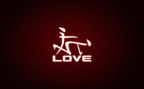 Картинка надпись, силуэт, иероглифы, love
