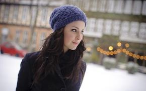 Картинка девушка, шапка, певица, Lena Meyer-Landrut