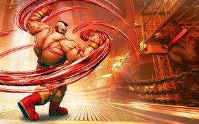 Картинка cinema, game, fighter, Russia, bear, anime, man, cartoon, movie, Wrestling, film, martial artist, doll, Street …
