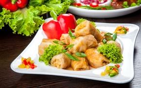 Картинка лук, мясо, перец, овощи, капуста, салат, vegetables, голубцы, Cabbage roll, Pepper