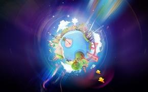 Картинка мир, дом, планета