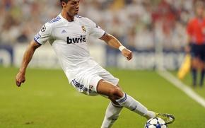 Картинка Cristiano Ronaldo, Реал, Лига чемпионов, укрощение мяча