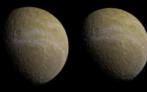 Картинка спутник, второй, Rhea, Сатурна, по величине, Рея
