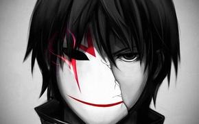Картинка маска, art, Darker than Black, Хэй, Темнее черного