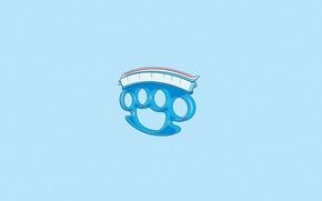 Обои Минимализм, Юмор, Арт, Кастет, Зубная Паста