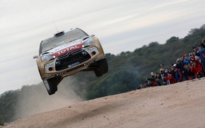 Картинка прыжок, rally, wrc, citroen, ds3, kris meeke