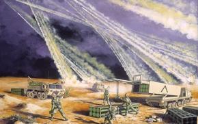 Обои война, ракеты, Saudi Arabia, February 1991 -- On 2 August 1990, the forces of Iraq ...
