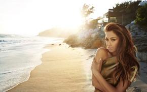 Картинка Николь Шерзингер, Nicole Scherzinger, певица, пляж, знаменитость, песок