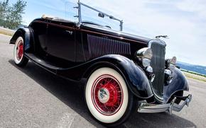 Картинка car, машина, ретро, Roadster, Ford, форд, auto, retro, 1934, vehicle