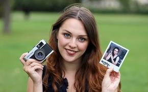 Картинка улыбка, фото, фотоаппарат, Imogen