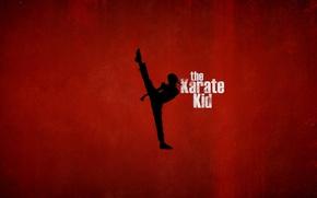 Обои красный, фон, спорт, силуэт, кунг-фу, Джейден Смит, Jaden Smith, The Karate Kid, Каратэ-пацан