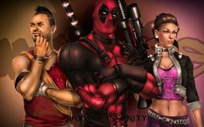 Картинка THQ, Deadpool, fan art, Shaundi, Saints Row: The Third, Far Cry 3, Ubisoft Montreal, Wade …