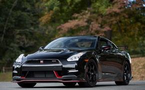 Картинка Nissan, GT-R, Black, Nismo, 2015