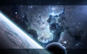 Картинка космос, звезды, туманность, планеты, space, universe, nebula, 1920x1200, stars