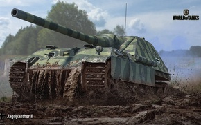 Обои САУ, WoT, Мир танков, World of Tanks, немецкая, Wargaming, Jagdpanther II