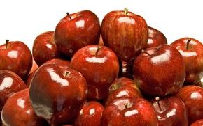 Картинка яблоки, красные, фрукты, много