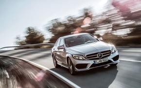 Картинка silver, Mercedes Benz, AMG, C63