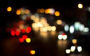 Картинка ночь, город, огни, Бангкок, боке