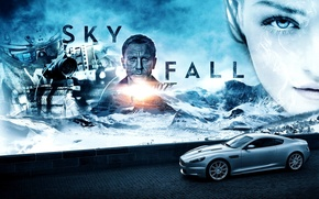 Картинка постер, Daniel Craig, James Bond, Дэниэл Крэйг, Skyfall, Координаты Скайфолл