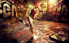 Картинка энергия, стиль, музыка, креатив, движение, граффити, танец, music, парень, разноцветные, graffiti, rhythm, ритм, energy, dance