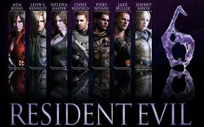 Картинка game, Resident Evil, Resident Evil 6, Leon Scott Kennedy, Helena Harper, Chris Redfield, Jake, Sherry …