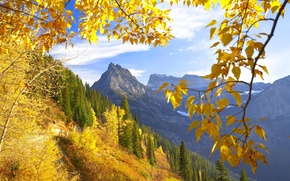 Обои монтана, осень, горы