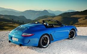 Картинка авто, природа, Porsche 911, Speedster