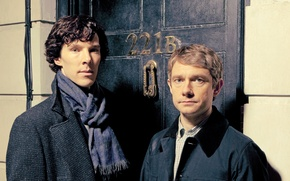 Обои Martin Freeman, Sherlock, Шерлок, BBC One, season 3, Sherlock Holmes, 221B Baker Street, Dr. John ...