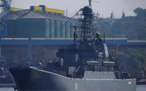 """Картинка корабль, большой, ВМФ, десантный, Севастополь, Черноморский Флот, """"Азов"""", БДК, проект 775"""