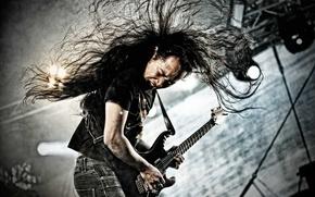Картинка металл, музыка, гитара, гитарист, рок, электрогитара, Dragonforce, Herman Li