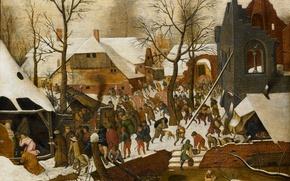 Картинка картина, мифология, Питер Брейгель младший, Поклонение Волхвов