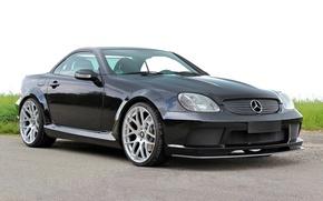 Картинка Mercedes-Benz, Design, Black, Lumma, SLK R170