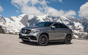 Картинка 2015, Mercedes-Benz, Coupe, горы, AMG, купе, C292, мерседес, 4MATIC, GLE 450