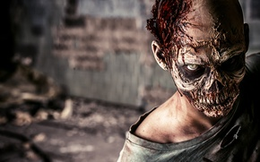 Обои zombie, man, look, makeup