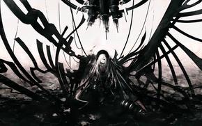 Картинка магия, разрушение, цепи, Suigintou, Rozen maiden