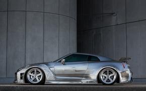 Обои Kuhl, side, Racing, view, Nissan, GTR