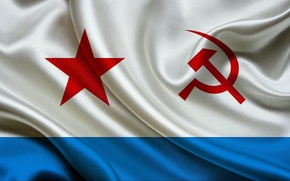 Картинка фон, widescreen, обои, флаг, wallpaper, USSR, СССР, ВМФ, широкоформатные, background, flag, полноэкранные, HD wallpapers, широкоэкранные, ...
