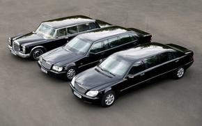 Картинка три, Mercedes, Maybach, Pullman